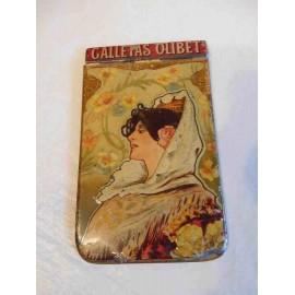 Libreta publicida Galletas Olibet. Rentería. Estilo Art déco. Modernista. Litografía.  Una joya.