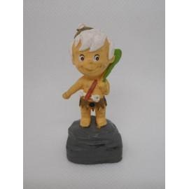 Figura pvc de Bam Bam de los Picapiedras. Fabricado por Shell. 1994.