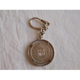 Llavero monedas 50 pts. Rey Juan Carlos. 1975.