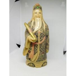 Antigua figura japonesa de Emperador en resina.