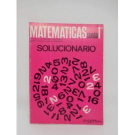 Libro de Texto de Matemáticas. Curso 1º. Ed. Anaya. 1970.