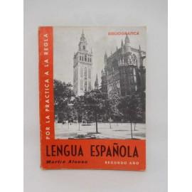 Libro de Texto de Lengua Española Segundo Año. Ed. Martin Alonso. Años 60.