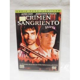 DVD Crimen Sangriento. Año 2002. Thriller.