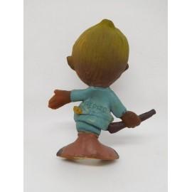 Figura de goma latex de personaje Pepito de cazador. Años 60. Promocional. Premium