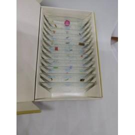 Placas para microoscopios con 36 especies
