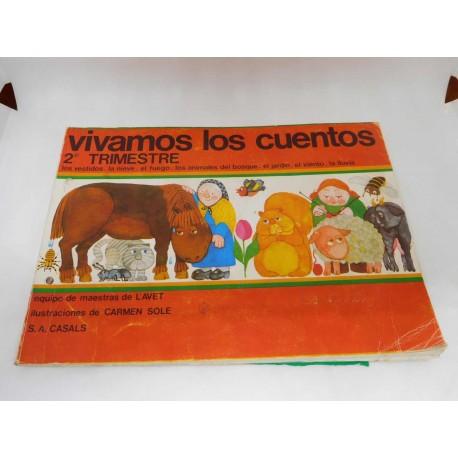 Libro de fichas Vivamos los cuentos. 2º trimestre. Casals. Preescolar 1980. 2º edición.
