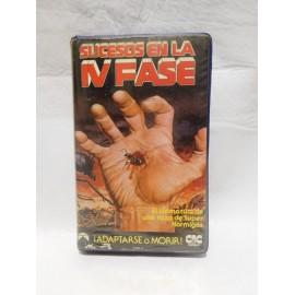 Edición en VHS de Sucesos en la Cuarta Fase. Año 1974. Terror-Ficción.