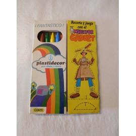 Caja de Pinturas Plastidecor. Años 80. Con recortable del Inspector Gadget.