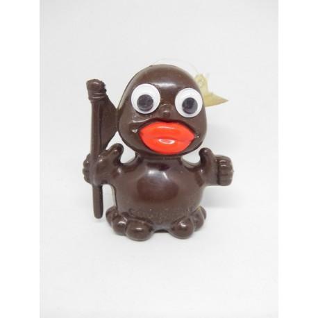 Muñeco promocional de los Conguitos en plástico duro. Con ojos móviles y ventosa.