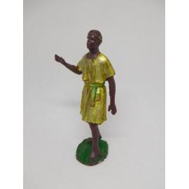 Figura antiguo belén paje rey Mago Melchor.