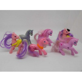 Lote de seis caballos pequeño ponny little pony miniaturas