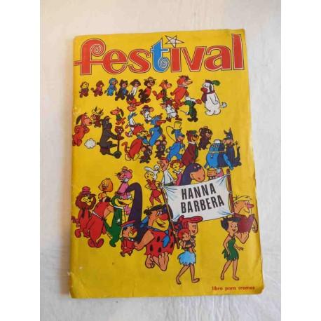 Album de cromos Festival de Hanna Barbera. Ed. Fher. Año 1971. Completo.