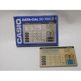 Antigua Calculadora Casio Agenda DC Data Cal  50 DC 750C con caja