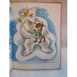 Cuento Un gatito en la luna. Ed. Sopena. Año 1959. Ilustraciones Jan Loup.