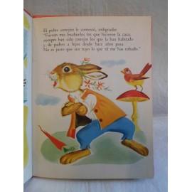 Cuento La liebre y la tortuga. Ed. Sopena. Año 1959. Ilustraciones Romain Simon.