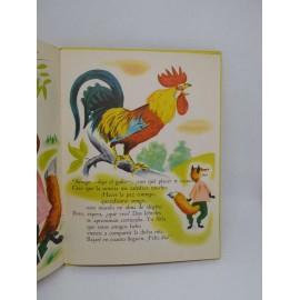 Cuento El lobo y el cordero. Ed. Sopena. Año 1959. Ilustraciones Romain Simon.