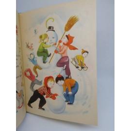 Cuento La danza de las estaciones. Ed. Sopena. Año 1958. Ilustraciones M. Clouzot.