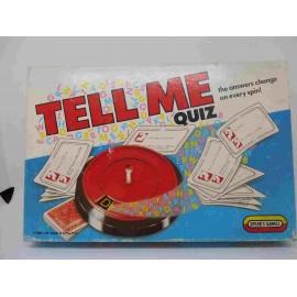 Juego de mesa con ruleta .Tell me quiz game.  Spears game. England.  Año 1989.