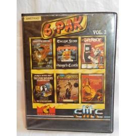 Caja con  dos Cintas de Juegos para AMSTRAD  Vol. 3 6 Pack 6 Juegos Clásicos. Años 80.