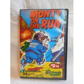Juego en cinta para Commodore 64k MONTY ON THE RUN. Años 80.