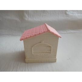 Pieza complemento Pin y Pon años 80.  Casita con puerta y tejado.