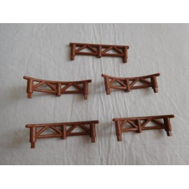 Pieza complemento Pin y Pon años 80.  Lote de vallas en madera.