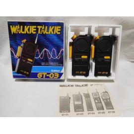 Caja con Walkie Talkie Gakken GT 03. Japoneses. Años 80.