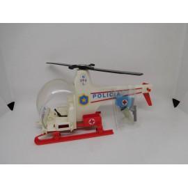 Helicoptero de los Famobil Playmobil en blanco. Años 70. Ref 3144.