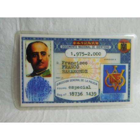 Documento Nacional de Identidad de Francisco Franco.