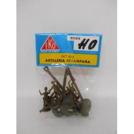 Soldados Soldaditos Eko nº 4516 Artillería de Campaña H0, Japoneses II Guerra Mundial. Nuevo.
