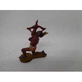 Figura indio con tambor. Goma. Años 50. Fabricado por gama. Ref 33