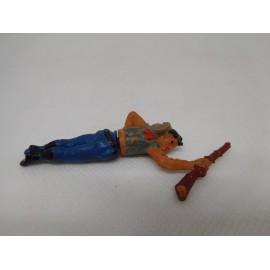 Figura vaquero herido o muerto. Goma. Años 50. Fabricado por gama. Ref 30.