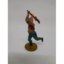 Figura vaquero con escopeta. Goma. Años 50. Fabricado por gama. Ref 18.
