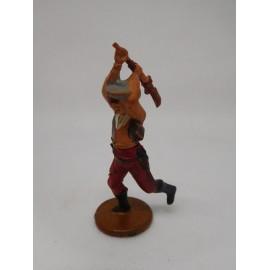 Figura vaquero con escopeta levantada. Goma. Años 50. Fabricado por gama. Ref 8.