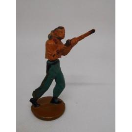 Figura vaquero con escopeta. Goma. Años 50. Fabricado por gama. Ref 6.