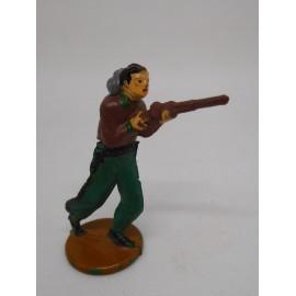 Figura vaquero con escopeta. Goma. Años 50. Fabricado por gama. Ref 5.