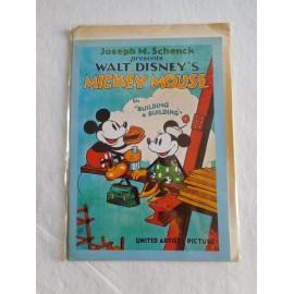Tarjeta de Felicitación de Mickey Mouse. Vintage. Retro. Nueva.