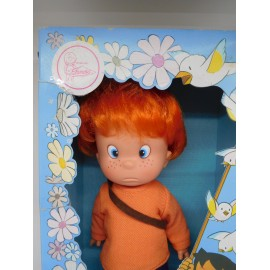 Muñeco en caja Pedro serie infantil Heidi. Famosa. Años en 70.