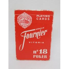 Baraja de Poker Poquer Fournier antigua con publicidad de cigarrillos Record.