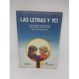 Libro Las letras y yo.  1º EGB. Anaya. Sin usar. 1981.