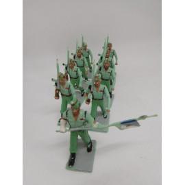 Lote 9 figuras de Legionarios desfilando. Reamsa. Años 60.
