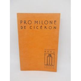 Libros Pro Milone de Ciceron. 1968.