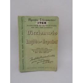 Libro Pequeños Diccionarios Iter. Diccionario Inglés - Español. Sopena. 1967.