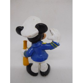 Figura de goma pvc Mickey Mouse capitan. Bully.