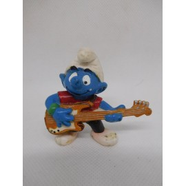 Figura de goma pvc Pitufo Rockero. Peyo. Schleich.