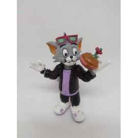 Figura de goma pvc Tom con hamburguesa. Comics Spain. 1990.