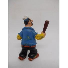 Figura PVC de Brutus con porra, Popeye. Comics Spain. Años 80.