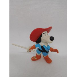 Figura PVC Dartacan y los mosqueperros. BRB. 1989. Star Toys. Startoys. Versión azul difícil.