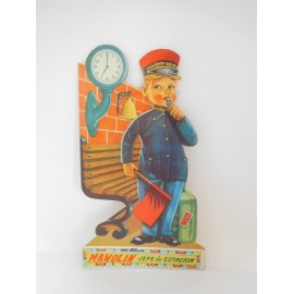 Antiguo Cuento troquelado Manolin Jefe de Estación años 60