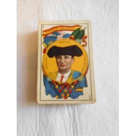 Baraja Taurina Simeon Dura. 1916. Reverso azul. 47 cartas.